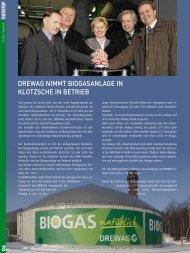 DREWAG nImmt BIOGAsAnlAGE In KlOtzschE In BEtRIEB