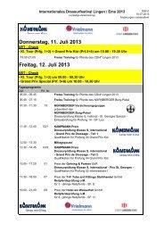 Zeitplan Lingen 10-07-2013 - Internationales Dressurfestival Lingen