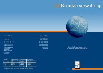 Benutzerverwaltung - Bit Informatik GmbH