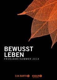 Bewusst Leben Frühjahr 2014 - Verlagsgruppe Droemer Knaur
