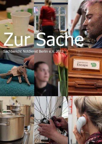 Sachbericht Notdienst Berlin e.V. 2012
