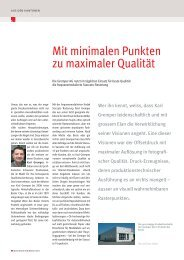 Mit minimalen Punkten zu maximaler Qualität - Druckmarkt