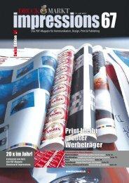 DRUCK MARKT Print bleibt größter Werbeträger