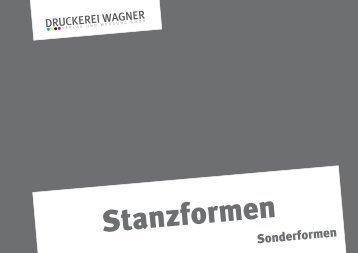 Stanzformen Sonderformen - Druckerei Wagner - Verlag und ...