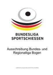 Ausschreibung zur Liga Bogen - Deutscher Schützenbund eV