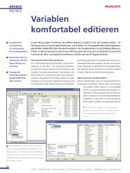 Variablen komfortabel editieren - dSPACE