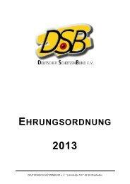 EHRUNGSORDNUNG - Deutscher Schützenbund eV