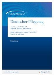 Programm des ersten Deutschen Pflegetages - Deutscher Städte ...
