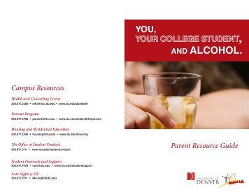 You, Your College Student and Alcohol - University of Denver