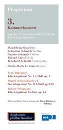 3. Kammerkonzert - Die Duisburger Philharmoniker