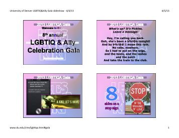 slideshow PDF - University of Denver