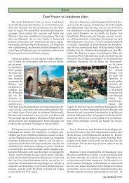 Zwei Frauen in Usbekistan allein - Durchblick