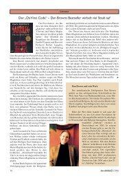 "Der ""Da Vinci Code"" – Dan Browns Bestseller wirbelt ... - Durchblick"