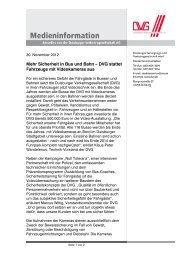 Mehr Sicherheit in Bus und Bahn – DVG stattet Fahrzeuge mit ...