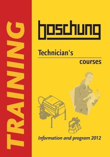 Technician's courses - Boschung