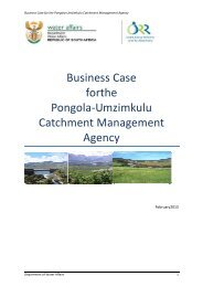 Business Case forthe Pongola-Umzimkulu Catchment Management ...