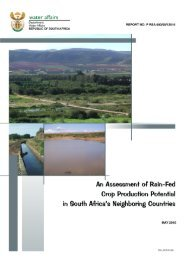 An assessment of rain-fed crop production potential in South Africa's ...