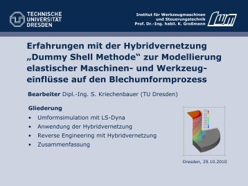 Dummy Shell Methode - DYNAmore