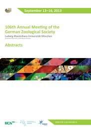 106th Annual Meeting of the German Zoological Society Abstracts