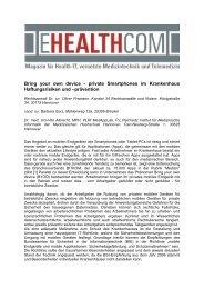 Bring your own device - private Smartphones im ... - E-HEALTH-COM