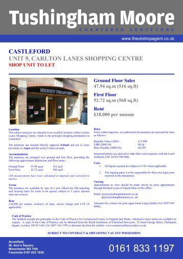 castleford unit 9, carlton lanes shopping centre - EACH