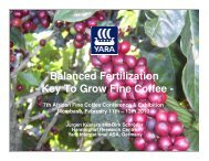 Balanced Fertilization - Key To Grow Fine Coffee - - EAFCA