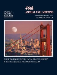 Invitation From The Chairs - American Academy of Facial Plastic and ...