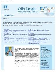 Aktueller Newsletter - bei LEW Card-Online
