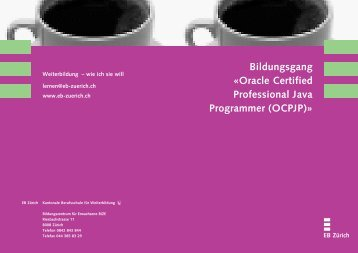 Bildungsgang «Oracle Certified Professional Java ... - EB Zürich