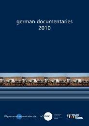 GERMAN DOCUMENTARIES 2010 (PDF - 8 MB)