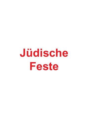 Jüdische Feste - Eberhard Gottsmann