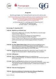 Programm Marketingstrategien der Finanzwirtschaft seit dem 20 ...
