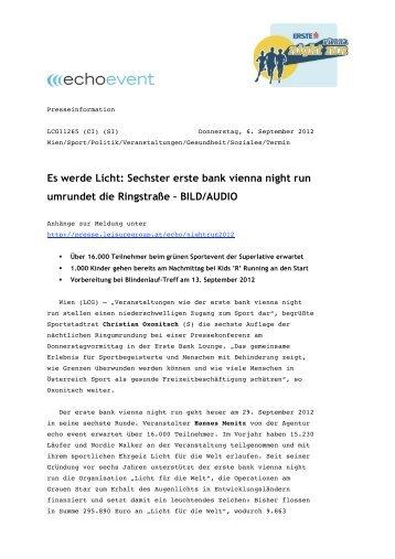Es werde Licht: Sechster erste bank vienna ... - Echo Medienhaus