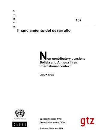Non-contributory pensions - Cepal