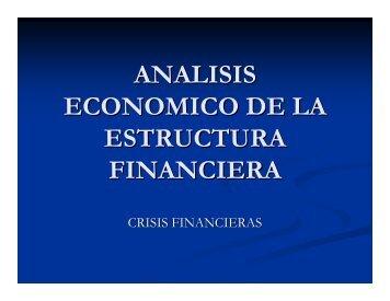 ANALISIS ECONOMICO DE LA ESTRUCTURA FINANCIERA