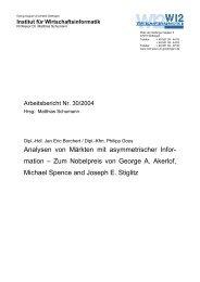 Analysen von Märkten mit asymmetrischer Infor - Georg-August ...