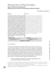 Monetary theory of Price Formation - Facultad de Economía