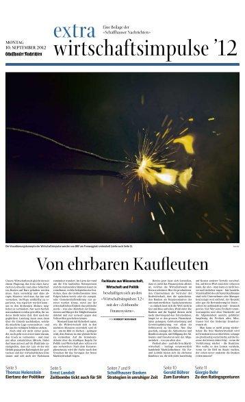 Von ehrbaren Kaufleuten - Wirtschaftsförderung Kanton Schaffhausen
