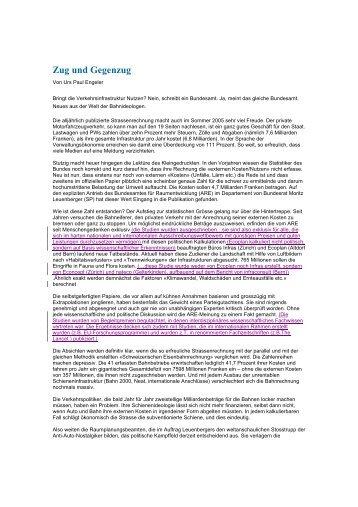 Zug und Gegenzug - Ecoplan