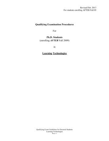 LT_Qualifying Exam Guideline - The University of Texas at Austin