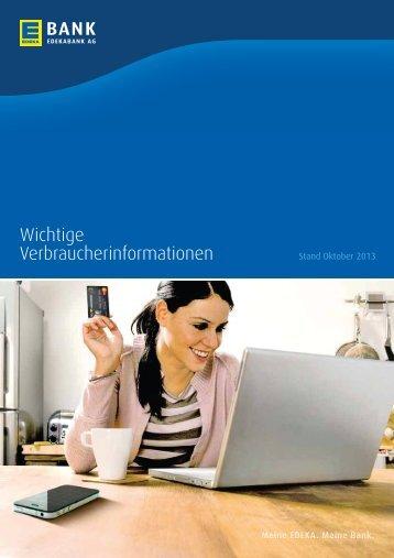 Wichtige Verbraucher-informationen - EDEKABANK AG