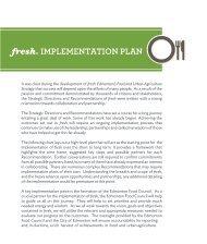 fresh: Implementation Plan - City of Edmonton