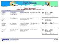 General Permit Report October 9 - 15 2013 - City of Edmonton