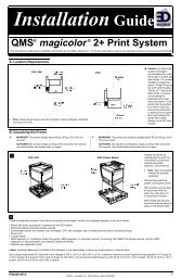 EDNord - QMS magicolor 2+ Farvelaserprinter Installationsvejledning