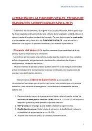 ALTERACIÓN DE LAS FUNCIONES VITALES: TÉCNICAS DE ...