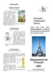 Département de Français 2007