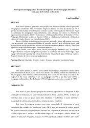 As Propostas Pedagógicas do Movimento Negro no Brasil ...