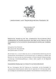 Landammann und Regierungsrat des Kantons Uri
