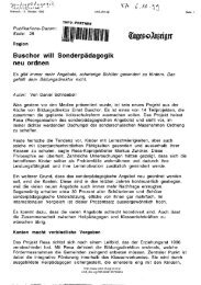 Buschor will Sonderpädagogik neu ordnen Es gibt immer mehr ...