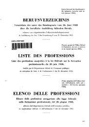 berufsverzeichnis liste des professions elenco delle professioni